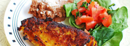 Plantain Empanadas con Queso y Refried Beans
