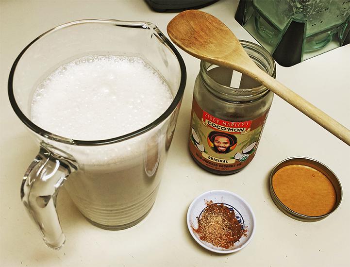 preparing chicha avena