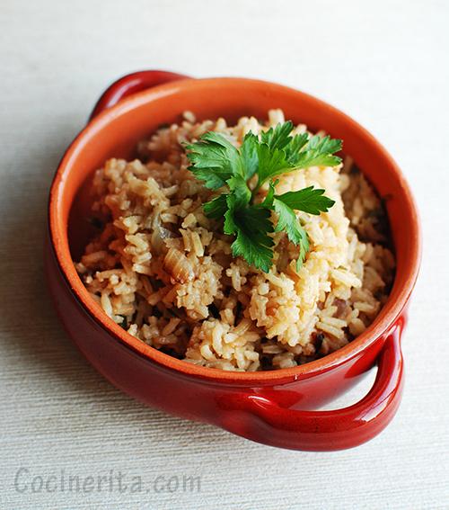 Arroz Culantro - Rice Panamanian Recipe - Cocinerita.com