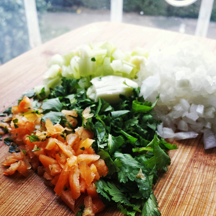 Ceviche Preparation Ingredients